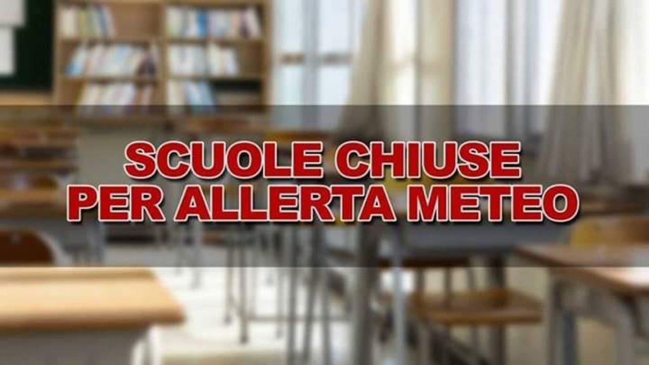 CHIUSURA SCUOLA PER ALLERTA METEO